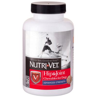 купити Nutri-Vet Hip&Joint Advanced НУТРІ-ВЕТ ЗВ'ЯЗКИ І СУГЛОБИ АДВАНСИД, 3 рівень, глюкозамін і хондроїтин з МСМ для собак в Одеси