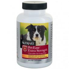 Nutri-Vet Pet-Ease Extra Strength НУТРІ-ВЕТ АНТИ-СТРЕС ЕКСТРА заспокійливий засіб для собак середніх і крупних порід, жувальні таблетки