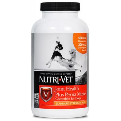 купити Nutri-Vet Joint Health Plus Perna Mussel НУТРІ-ВЕТ ЗДОРОВ'Я СУГЛОБІВ СТАНДАРТ ПЛЮС жувальні таблетки з глюкозаміном, мідіями, МСМ для собак в Одеси