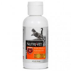 Nutri-Vet Wild Alaskan Salmon Oil НУТРІ-ВЕТ МАСЛО ДИКОГО ЛОСОСЯ рідка вітамінна добавка для шерсті котів, 118 мл