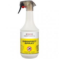 Oropharma Disinfect Spray ДЕЗИНФІКУЮЧИЙ СПРЕЙ бактерицид, фунгіцид, віруліцід для всіх тварин, 1 літр