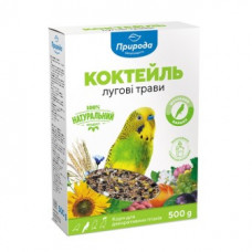 Корм Природа «Лугові трави» для хвилястих папуг 500 гр