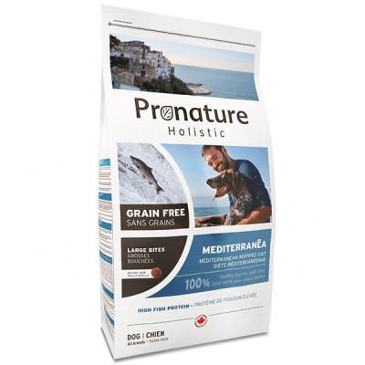 купити Pronature Holistic (Пронатюр Холістік) Mediterranea Large Bites лосось з в'яленими томатами корм для собак середніх і великих порід в Одеси