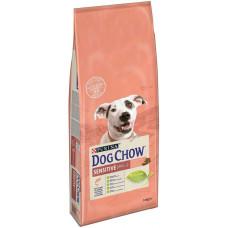 Dog Chow Sensitive для дорослих собак з чутливим травленням, з лососем