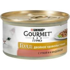 Gourmet Gold (Гурме Голд) Двойное удовольствие. Кусочки в подливе с уткой и индейкой, 85г