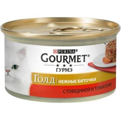 купити Gourmet Gold (Гурме Голд) Нежные биточки с говядиной и томатом, 85г в Одеси