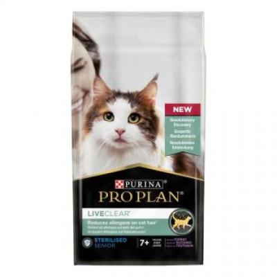 купити ProPlan LiveClear Корм для стерилізованих котів 7 + для зменшення алергенів на шерсті з індичкою в Одеси