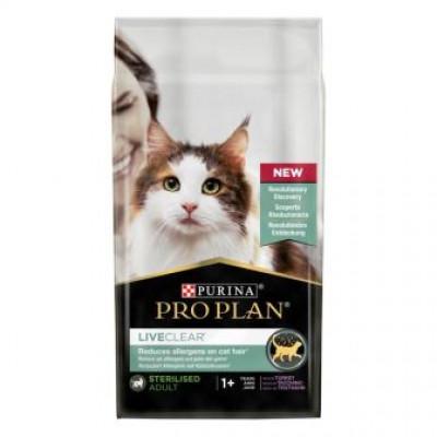 купити Pro Plan LiveClear для стерилізованих котів для зменшення алергенів на шерсті з індичкою в Одеси