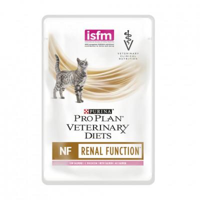 купити Purina Veterinary Diets NF Renal Function Feline Шматочки в підливі з лососем для котів з патологією нирок в Одеси
