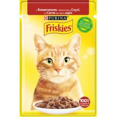 Friskies для кошек с говядиной кусочки в подливе, 85 гр