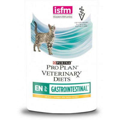 купити Purina Veterinary Diets EN Gastrointestinal Feline Шматочки в підливі з куркою для кішок з хворобами ШКТ в Одеси