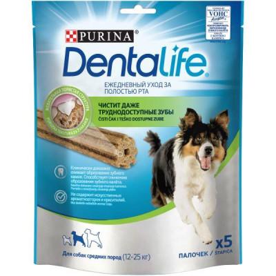 Purina DentaLife Medium Ласощі для собак 5х115