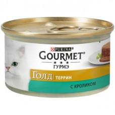 Gourmet Gold (Гурме Голд) Кусочки в паштете с кроликом по-французски, 85г