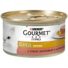 Gourmet Gold (Гурме Голд) Кусочки в паштете с уткой, морковью и шпинатом, 85г
