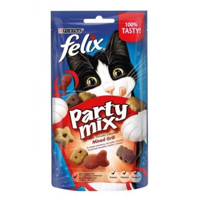 купити Felix (Фелікс) Party Mix Mixed Grill ласощі Гриль Мікс для кішок, 60 г в Одеси