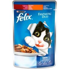 Felix Fantastic Duo Индейка и печень в желе, 100 гр