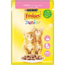 Friskies Junior для котят с курицей в подливе, 85 гр