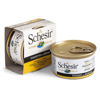 купити Schesir ТУНЕЦЬ З СУРІМІ (Cat Tuna Surimi) для кішок, банка в Одеси