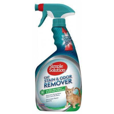 купити SIMPLE SOLUTION Cредство нейтрализации запахов и удаления стойких пятен от жизнедеятельности кошек, 945мл в Одеси