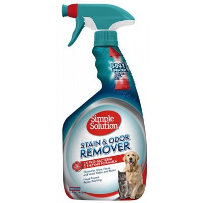 купити Simple Solution Cредство для нейтрализации запахов и пятен от жизнедеятельности домашних животных, 945ml в Одеси