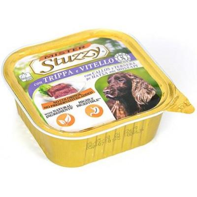 MISTER STUZZY Dog Tripe Calf (Trippa e Vitello) МИСТЕР ШТУЗИ РУБЕЦ ТЕЛЯТИНА корм для собак, паштет, 300г