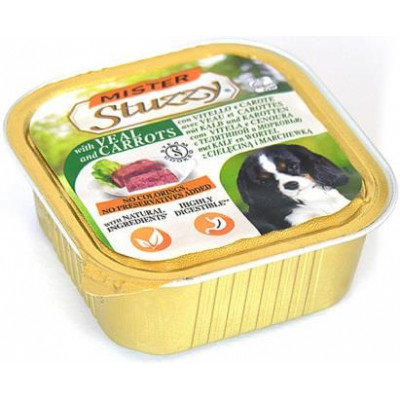 купити MISTER STUZZY Dog Veal Carrot МИСТЕР ШТУЗИ ТЕЛЯТИНА МОРКОВЬ корм для собак, паштет, 150г в Одеси