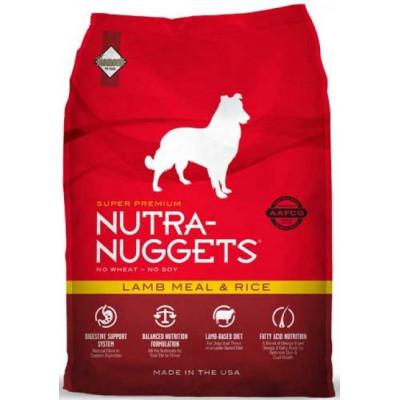 Nutra Nuggets (Нутра Нагетс) Lamb & Rice сухий корм з ягням і рисом для собак