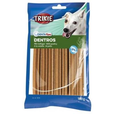 купити Trixie (Трикси) Denta Fun Dentros Палочки для чистки зубов собак с мясом домашней птицы 7 шт, 180 гр в Одеси