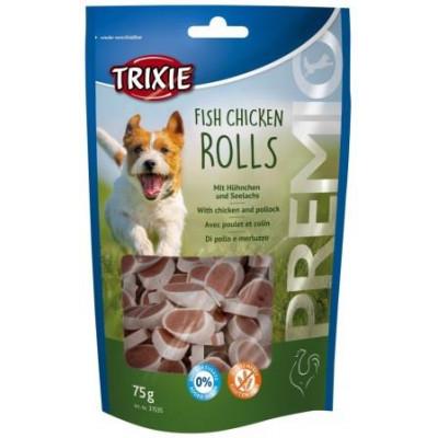 Trixie (Трикси) Premio Fish Chicken Rolls Кружочки для собак с курицей и рыбой 75 гр