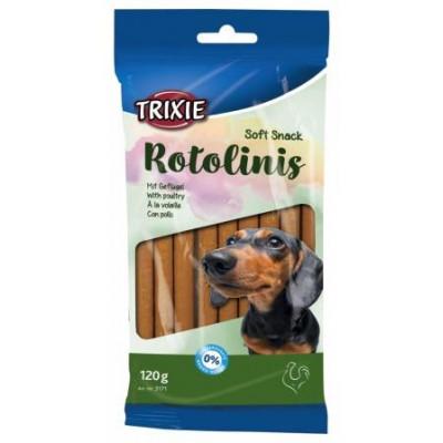 TRIXIE (Трикси) Rotolinis Крученые палочки для собак с мясом домашней птицы, 12 шт, 120 г