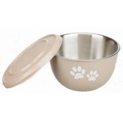 """Trixie (Тріксі) Миска з кришкою """"Fresh Feed"""" (метал + пластик) 0.6 л / ø 13 см для котів і собак"""