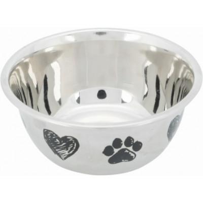 Trixie (Тріксі) Миска з гумовою основою (метал), 0.5л / 13см для котів і собак