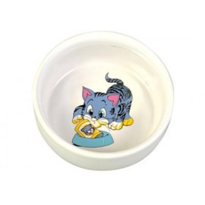 Trixie (Тріксі) Миска керамічна 0,3л / 11см для котів