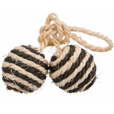 купити Trixie (Тріксі) Два м'ячика сизаль на шнурку (колір в асортименті) в Одеси