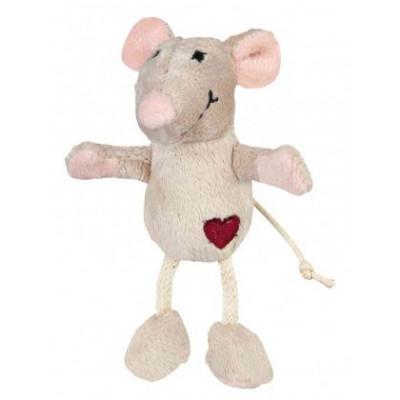 Trixie (Тріксі) Мишка із серцем плюш 6 см іграшка для котів