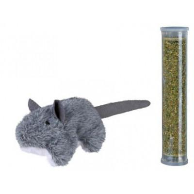 купити Trixie (Тріксі) Мишка плюшева з котячої м'ятою, 8 см в Одеси