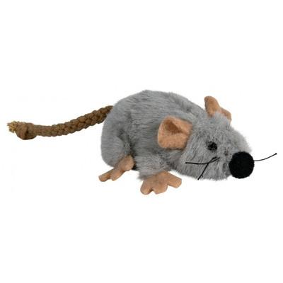 Trixie (Тріксі) Миша плюш сіра з котячою м'ятою 7 см іграшки для котів