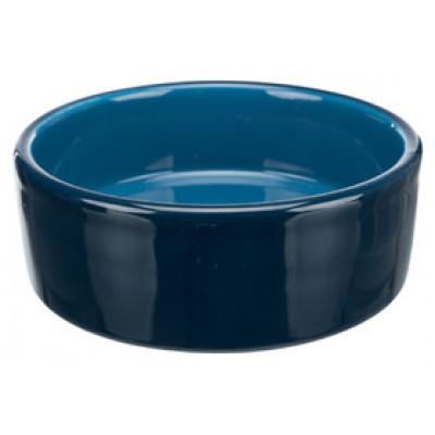 Trixie (Тріксі) миска кераміка 0.3л / ø 12см, синій для котів і собак