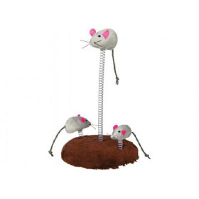 Trixie (Тріксі) Мишача сімейка на пружині 30 см іграшка для котів