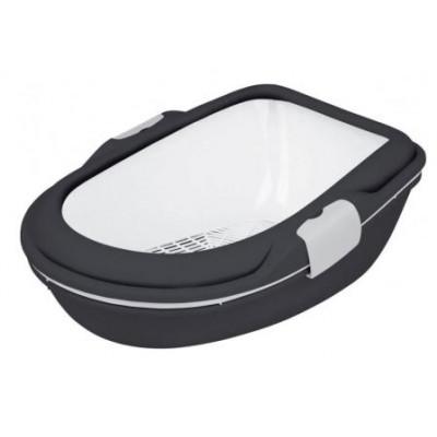 """Trixie (Тріксі) Туалет """"Berto XL"""" (рама + сітка) 47х26х69см, антрацит / білий"""