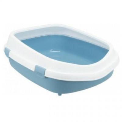 """Trixie (Тріксі) Туалет """"Primo XXL"""" з рамою, 56х25х71см, сірий/білий"""