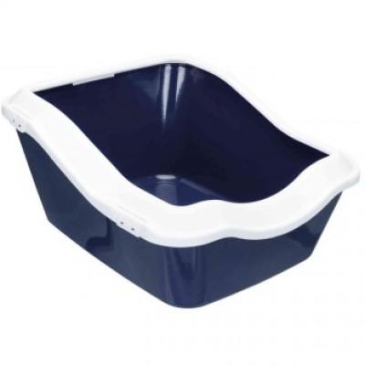 Trixie (Тріксі) Туалет для кота Cleany c рамою 45 × 29 × 54 см, темно-синій/білий