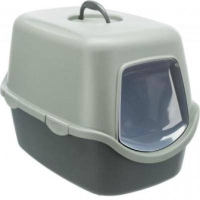 Trixie (Тріксі) Туалет Be Eco Vico, для кішок, 40x40x56 см, антрацит/сіро-зелений