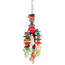 Trixie (Тріксі) Іграшка для птахів дерев'яна, різнобарвна, 35 см