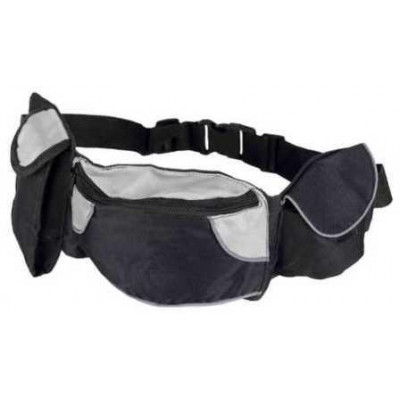 купити Trixie (Тріксі) Сумка на пояс Baggy Belt, ремінь 62-125 см, чорний / сірий в Одеси