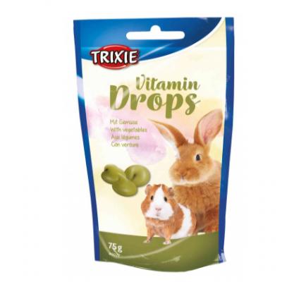 купити Trixie (Тріксі) Drops з овочами ласощі для гризунів 75 гр в Одеси