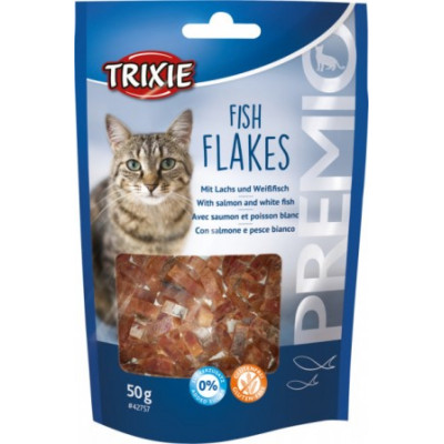 """Trixie (Тріксі) Рибні пластівці """"PREMIO"""", для котів 50гр"""