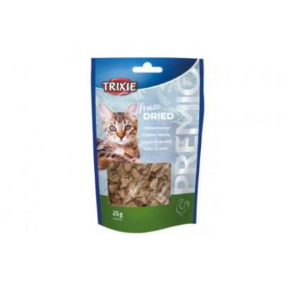 """Trixie (Тріксі) курячі сердечка (сушені) """"PREMIO"""", для котів 25гр"""