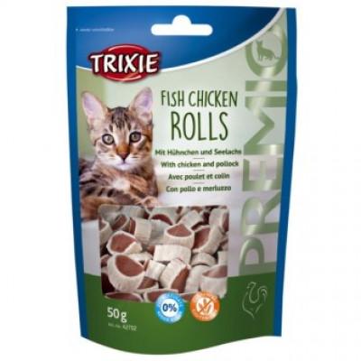 Trixie (Тріксі) PREMIO Fish Chicken Rolls для котів 50г
