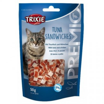 "Trixie (Тріксі) Ласощі ""PREMIO Tuna Sandwiches"" тунець для котів 50гр"